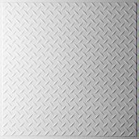 Diamond Plate White Ceiling Tiles