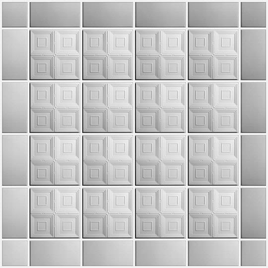 Ceiling tiles white
