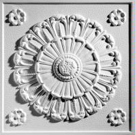 Medallion White Ceiling Tiles