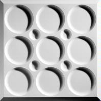 Roman Circle White Ceiling Tiles