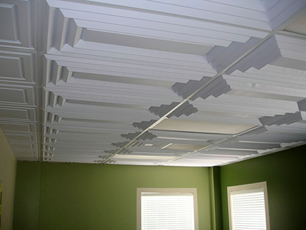 Aristocrat white 2x4 by ceilume Self adhesive bathroom ceiling tiles