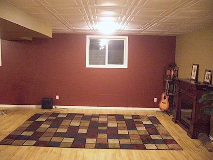 Updated drop ceiling Basement ideas Pinterest Music rooms