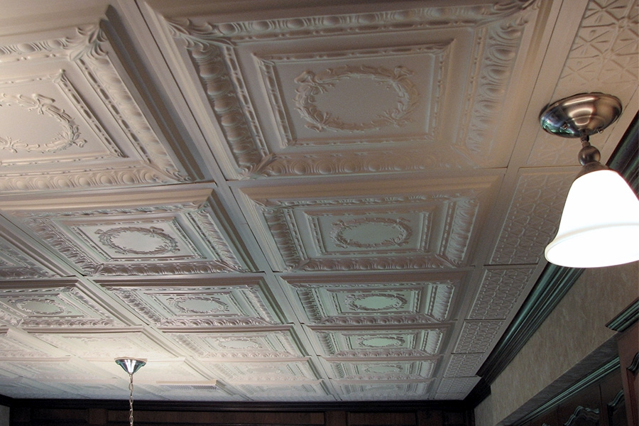 Painting ceiling tile