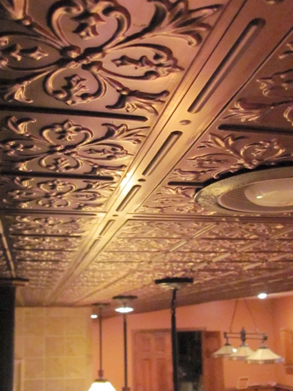 Faux Bronze Ceiling Tile Picture