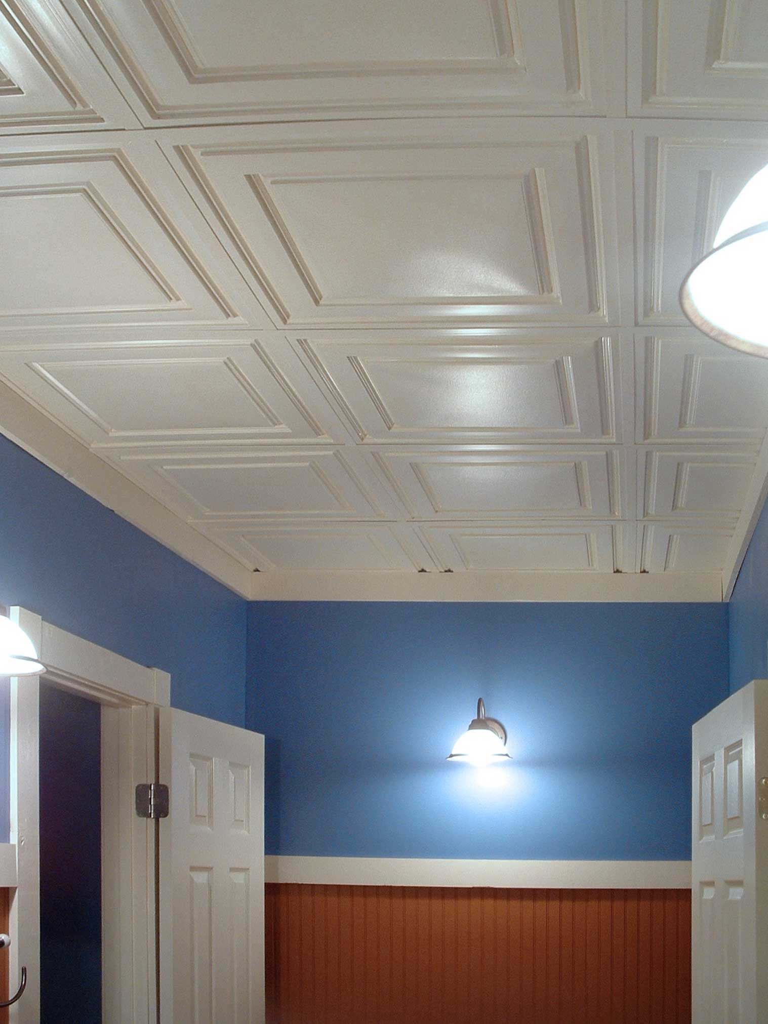 Painted ceiling tiles ceilume we went with the ceiling link grid system i know this is not your product but i thought id just share that next time i would go with one that locks dailygadgetfo Choice Image