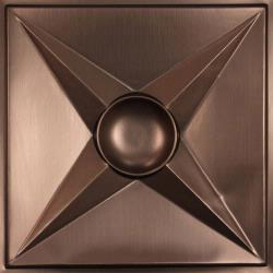 Circle Star Ceiling Tiles Black
