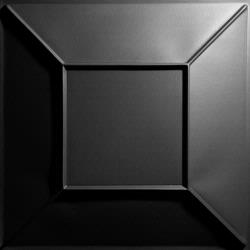 Convex Ceiling Tiles Black