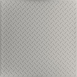 Diamond Plate Ceiling Tiles White