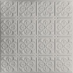 Fleur-de-lis Ceiling Tiles Black