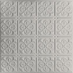 Fleur-de-lis Ceiling Tiles Random Gray