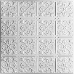 Fleur-de-lis Ceiling Tiles White