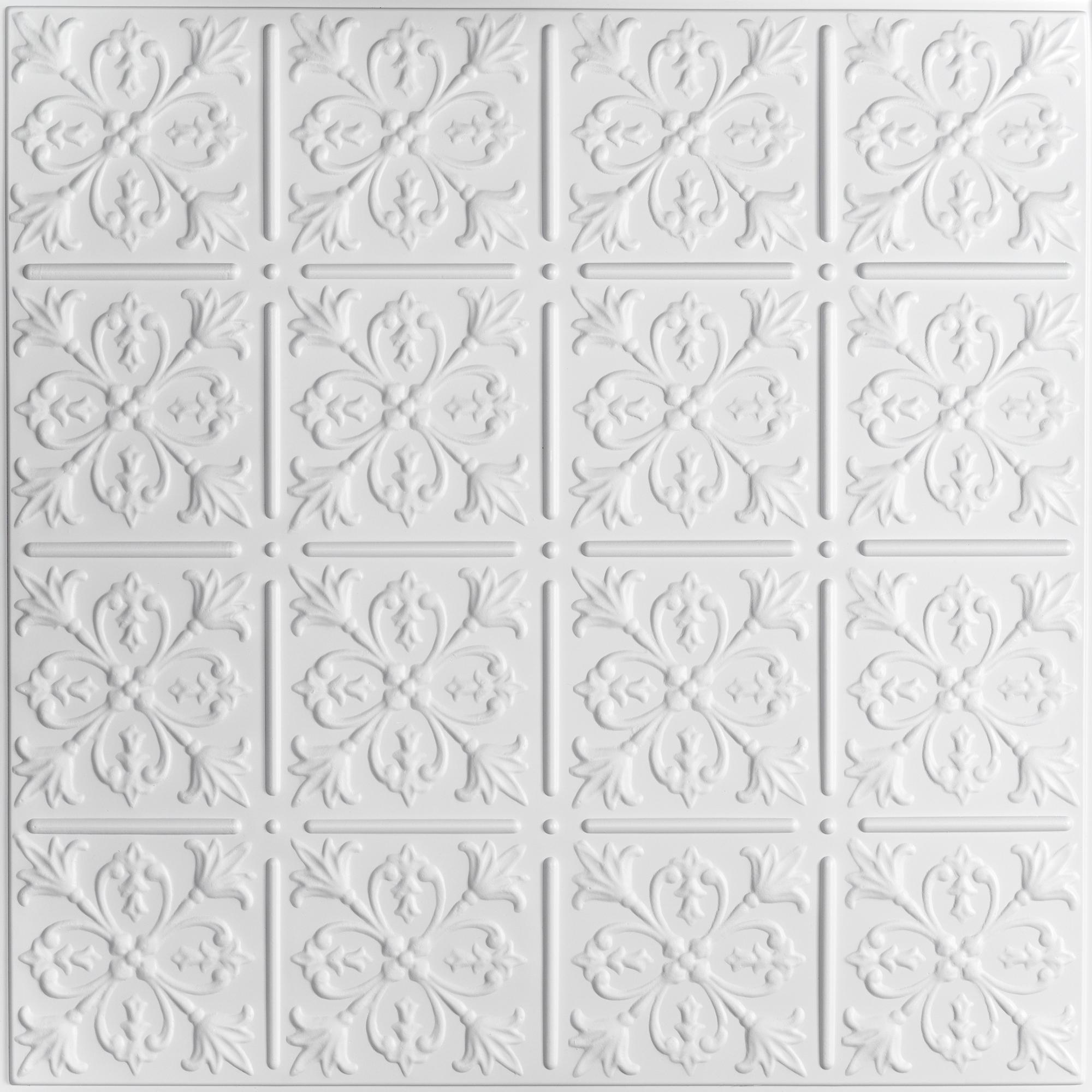 fleur de lis ceiling tiles - White Ceiling Tiles