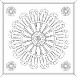 Medallion Ceiling Tiles Merlot