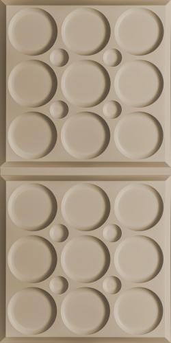 Roman Circle Ceiling Panels White