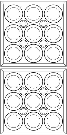 Roman Circle Ceiling Panels