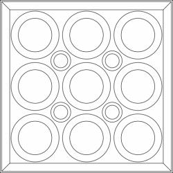 Roman Circle Ceiling Tiles Translucent
