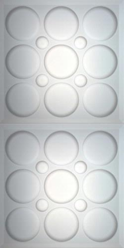 Roman Circle Ceiling Panels Frosted