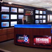 Fully Illuminated TV Newsroom