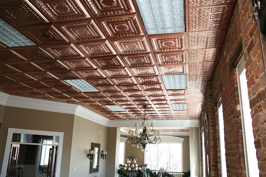 Empire 2x2 Copper Ceiling Tile Picture