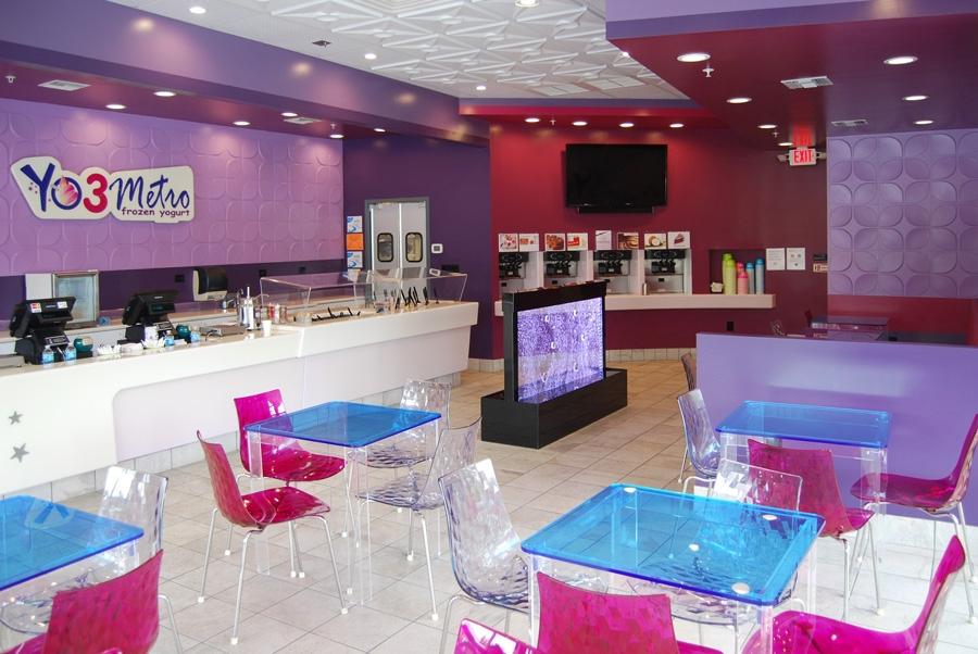 Yo3 Metro Frozen Yogurt. Restaurant Interior Design ...