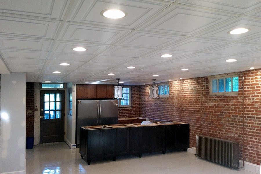 Basement With Insulated Ceiling Tiles Ceilume
