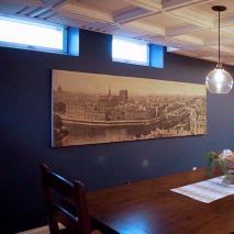 Basement Turned Dining Room