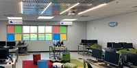 Classroom Remodel Reveals Fun in the Ceiling